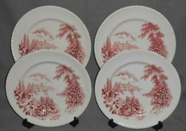 Set (4) Johnson Brothers CASTLE ON THE LAKE PATTERN Dinner Plates ENGLAND - $69.29