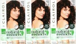 3 Clairol Natural Instincts New Improved 3RR Cherry Darkest Red Last 28 Shampoo  - $25.73