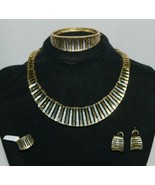 Fashion Jewelry Set Gold Color Includes Necklace Bracelet Ring Earrings - $83.96