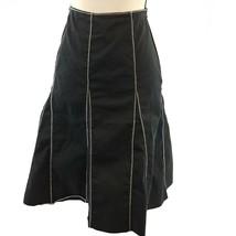 Neiman Marcus Skirt Womens Size 10 Black White Contract Stitch Paneled F... - $15.98