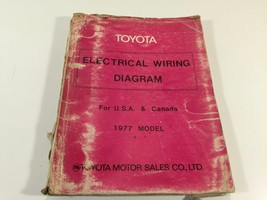 1977 Toyota Electrical Wiring Diagram for USA Canada 98889 Corolla Land ... - $29.99