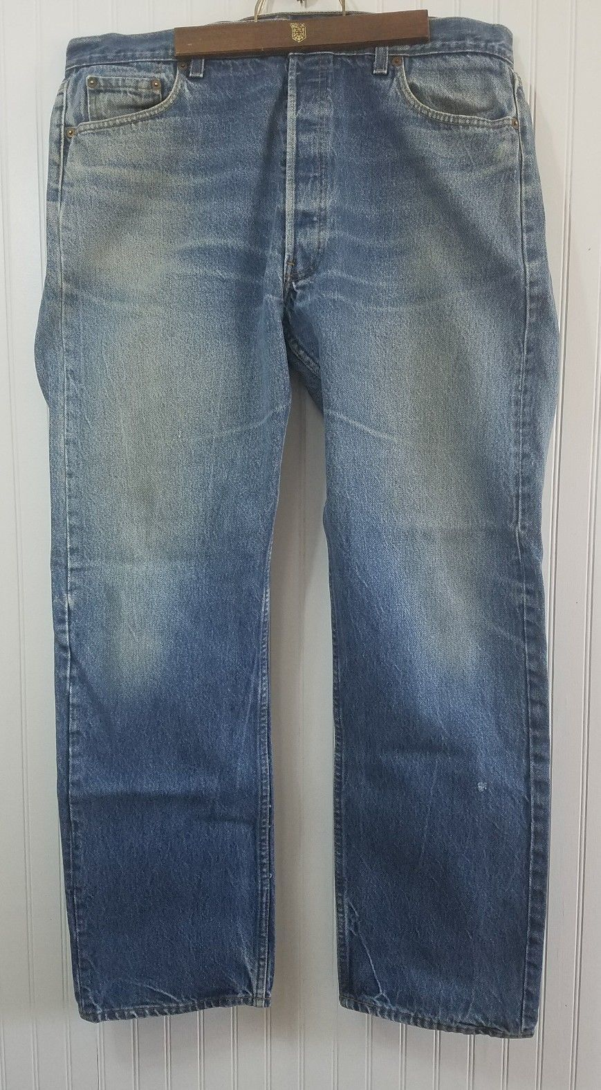 0fac7f20a0d VINTAGE Levi 501XX Men's Size 38 x 32 Jeans Button Fly Red Tag USA boho (I)  - $30.95