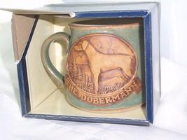 New Stonebridge Pottery 1/2 Pint Tankard Mug Box The Doberman Pincher Do... - $23.36