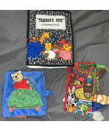 lot of 3 My Quiet Book soft busy activity books baby Animals Teddy Bear - $16.53