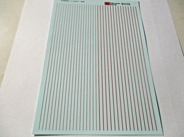 """Microscale Decals Stock # 91115 Striping 1"""" and 2"""" Widths Red image 1"""