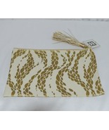 Mary Square 7952 Off White Gold Zipper Tassel Movement Pouch - $16.00