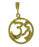 WOW New HINDU OM Genuine Real 10K Yellow Gold PENDANT Charm Jewelry DETA... - $280.54