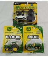 John Deere Die Cast and Plastic Toy Farm Trucks by Ertl Lot of 3  - $26.72