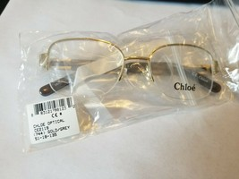 Chloe CE2119 744 Goldgrey RX EYEWEAR..SIZE 51-18-135..AUTHENTIC BRAND NEW - $69.30