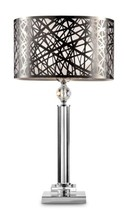 """Chrome and stainless steel Chic array table lamp 27.5""""H -OK 5148T - $147.29"""