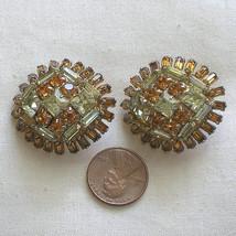Big Chunky Vintage Rhinestone High Dome Earrings - $35.00