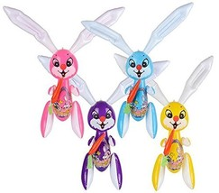 EASTER BUNNIES INFLATES- Four 42''INFLATABLE EASTER RABBITS/BUNNIES with... - $17.07