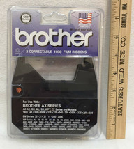 Brother 2 Correctable 1030 Film Ribbons 1230 Black Color AX Series NOS - $9.89