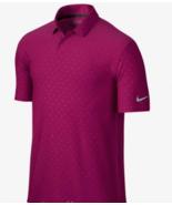 Nike Men Mobility Emboss Stretch Golf Polo 685741 Fuchsia 607 M,  L & X-... - $22.24+