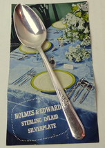 "Dinner Spoon Holmes Edwards Youth Pattern  6 1/8""   Inlaid Silverplate - $3.83"