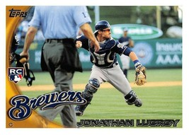 2010 Topps Update #US143 Jonathan Lucroy RC Rookie Card > Milwaukee Brewers - $1.25