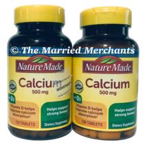 (2) Nature Made Calcium 500 mg + Vitamin D3 400 IU 130 tabs each 11/2022 FRESH! - $22.99