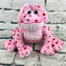 Ganz Webkinz Love Frog Plush Pink Heart Spotted Beanbag Stuffed Animal S... - $7.91