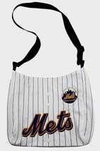 New York Mets Mlb Jersey Fabric Style Mvp Messenger Tote Bag New - $17.99