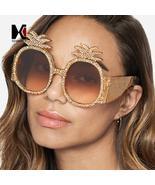 SHAUNA Summer Styles Crystal Decoration Oversize Pineapple Sharp Women O... - $75.92