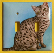 Mau Egipcio Cat Toggle Rocker Light Switch Power Duplex Outlet Wall Cover Plate image 3
