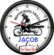 Motocross Motorcycle Gear Thumper Racing Bike Personalized Sign Wall Clock - $21.12