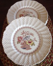 "Set of 4 Royal Doulton Grantham D5477 LUNCHEON PLATES 8-1/2"" Diam. England Vtg - $19.79"