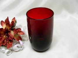 2154 Antique Anchor Hocking Royal Ruby Water Tumbler - $6.00