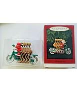 Hallmark 1994 Christmas Ornament Membership Cheery Cyclists Santa / Rein... - $14.99