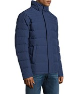 Brooks Brothers Mens Dark Blue Hooded Down Puffer Jacket Sz 2XL XXL 7158-1 - $220.30