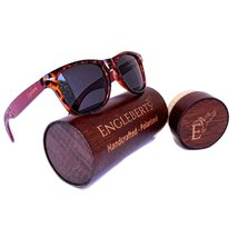 Red Bamboo Tortoise Framed Sunglasses With Case, Polarized, Anti-Reflect... - $37.99