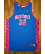 Authentic Nike Detroit Pistons Richard Hamilton Blue Red Road Away Jerse... - $309.99