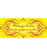 Bonanza Booth Banner- Red Swirled Frame on Yellow - $5.99