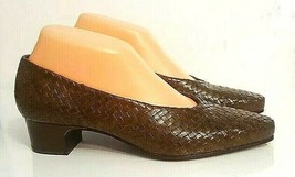 ENZO Angiolini Women's Size 9 N Brown Woven Leather Loafer Pumps - $29.69