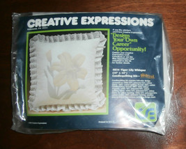 """Tiger Lily Whisper Creative Expressions #4834 Candlequilting 14"""" sq Unop... - $8.79"""