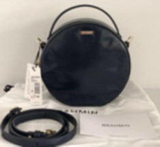 Brahmin Lane Navy Topsail Smooth Leather Circle Canteen Crossbody Bag MS... - $120.00