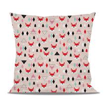 Fox Geometric Winter Fleece Cushion - $28.99+