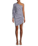 Parker Striped One-Shoulder Cotton Dress Size Small MSRP: $368.00 - $138.59