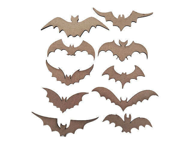 Creative Embellishments Chipboard Bat Shapes, Set of 10