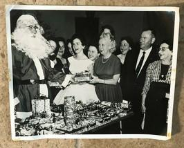 "Vintage Photo Santa Claus 1940's Christmas Party Gift Exchange 10"" x 8"" - $14.00"