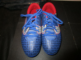 UNDER ARMOUR ClutchFit Force Royal Blue White Black Red Soccer Cleats Youth 1 - $14.00