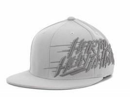 Hart & Huntington Fast Lane Stretch Fit Flat Bill Logo Cap Hat S/M - £15.64 GBP
