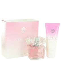 Versace Bright Crystal Perfume 3.0 Oz Eau De Toilette Spray 2 Pcs Gift Set image 2