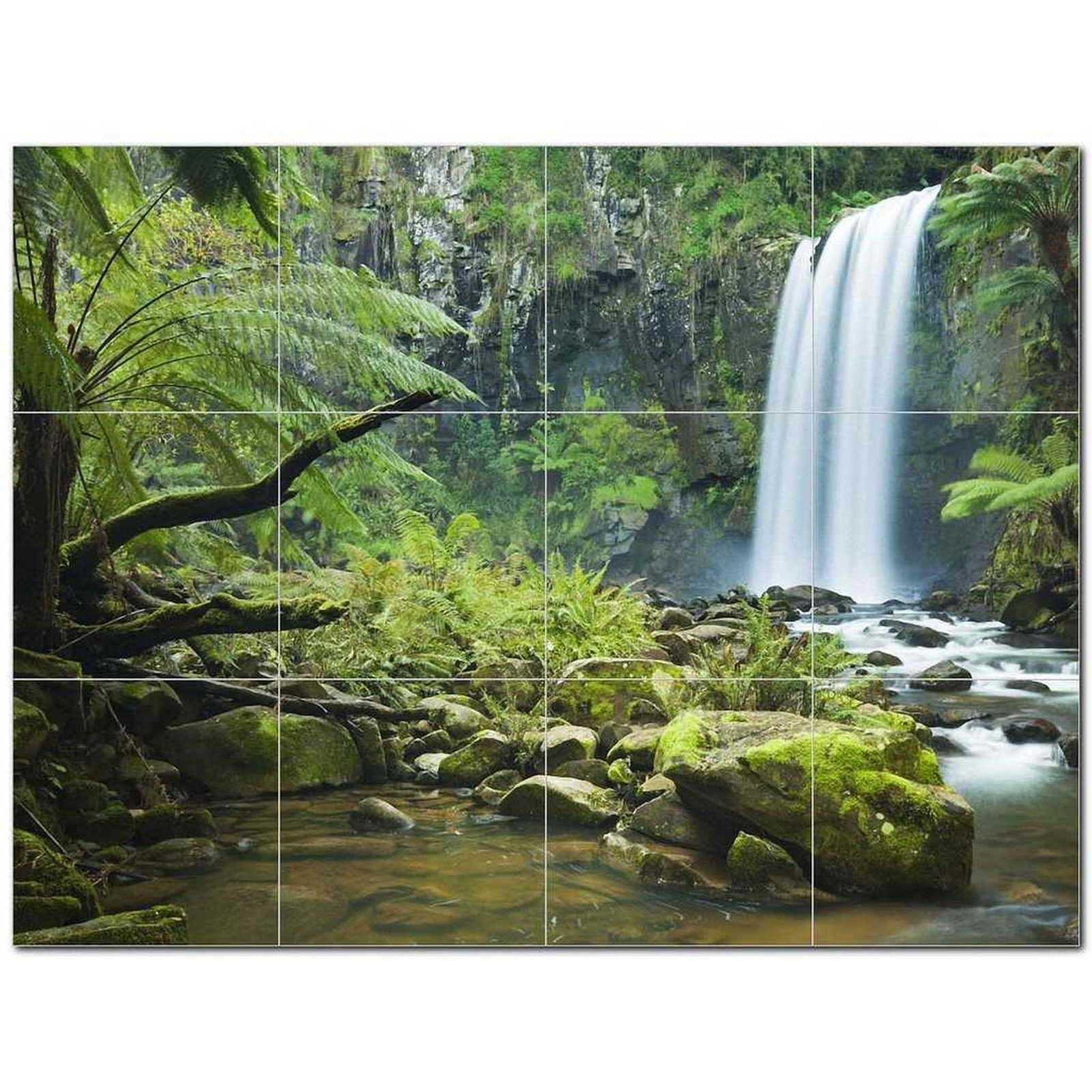 Primary image for Waterfall Photo Ceramic Tile Mural Kitchen Backsplash Bathroom Shower BAZ406144