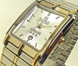 NEW Swistar 959582M Men's Precision Quartz Silver Dial and Two tone Silver Watch - £50.31 GBP