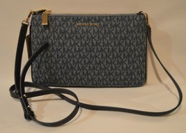 Michael Kors Large Signature Denim Double Pouch Crossbody Bag NWT - $89.05