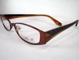 NICOLE MILLER  Demure Nutmeg Brown Women Eyeglass Eyewear Frame Designer  New - $39.58