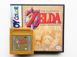 Legend of Zelda Link's Awakening DX  + Case Game Boy Color GBC - Gold Re... - $22.79