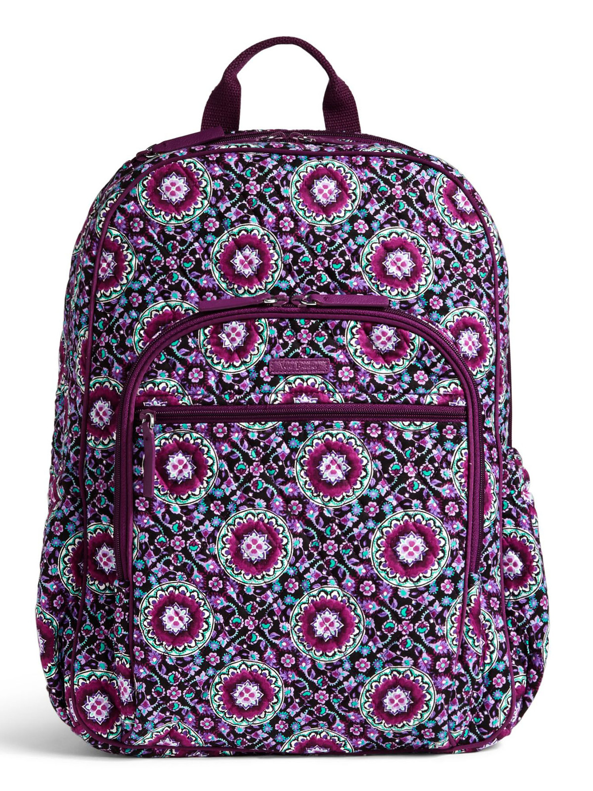 Vera Bradley Signature Cotton Campus Tech Backpack, Lilac Medallion