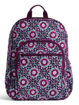 Vera Bradley Signature Cotton Campus Tech Backpack, Lilac Medallion image 1